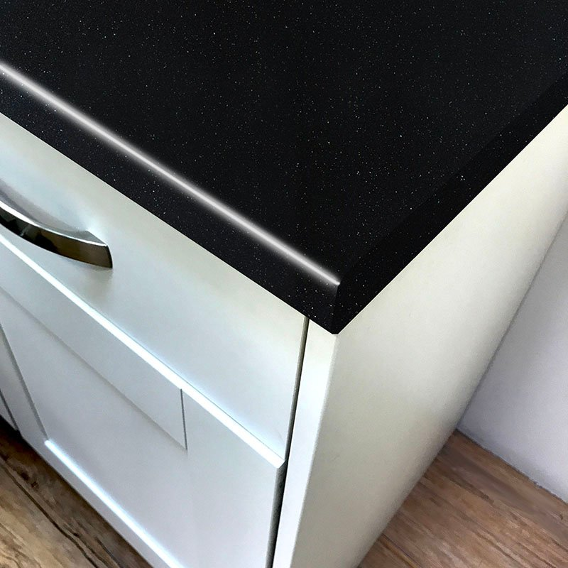 Axiom Platinum Black 600mm Worktop
