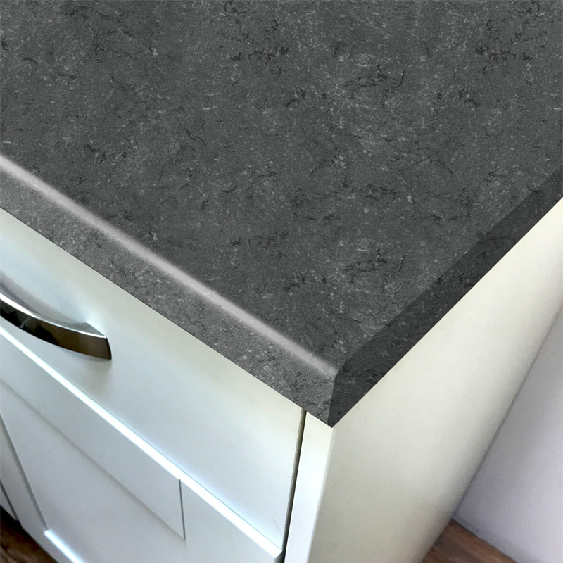 Duropal Black Limestone Top Face Laminate Kitchen Worktops