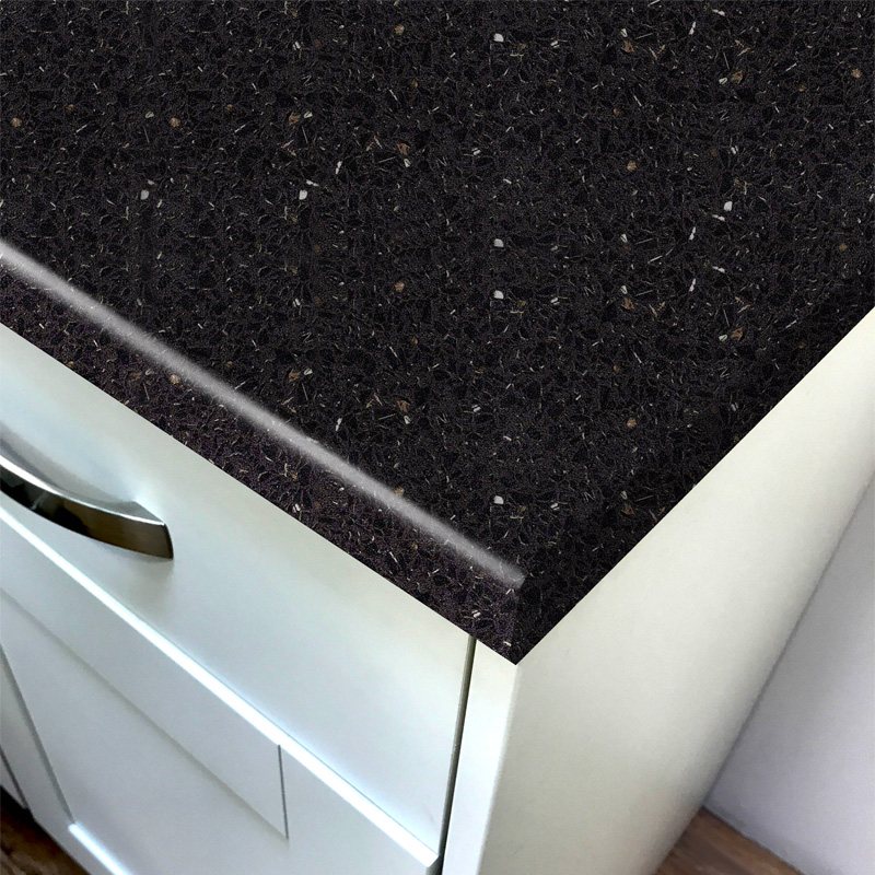 Duropal Flash Black Crystal Stone Laminate Kitchen Worktops