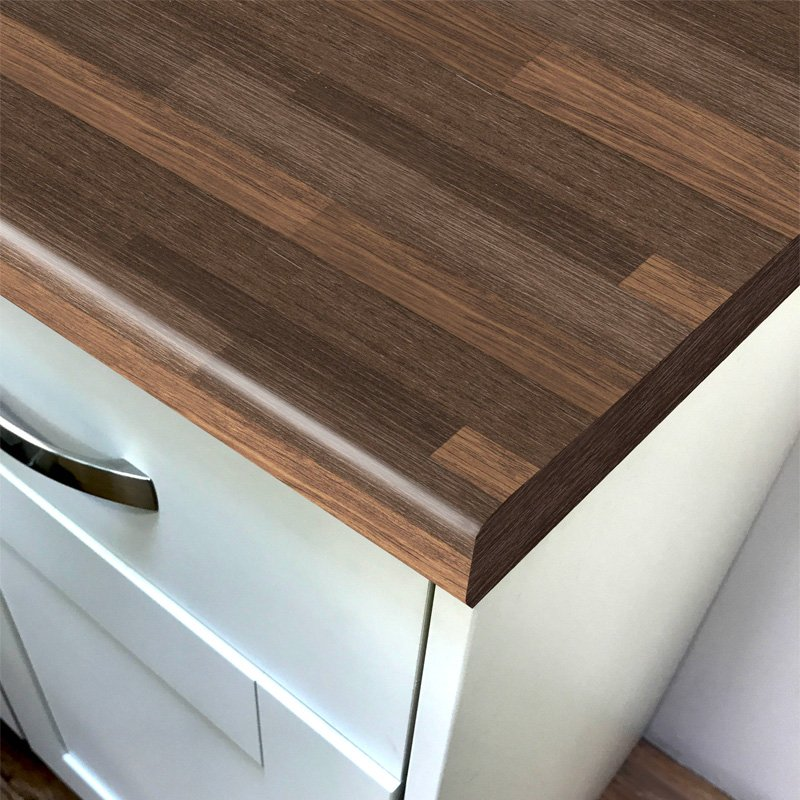 Duropal Plum Butcherblock Top Velvet Laminate Kitchen Worktops