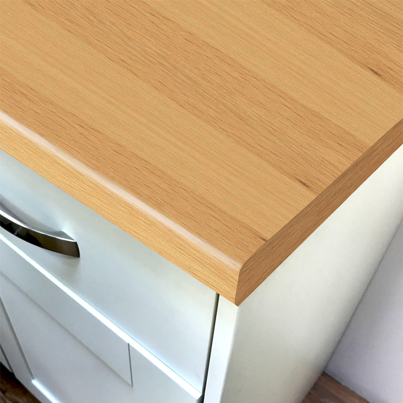 Duropal White Beech Parquet Top Velvet Laminate Kitchen Worktops