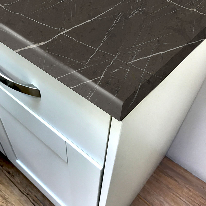 Pro-Top Brown Pietra Marble Super Matt Laminate Kitchen Worktops