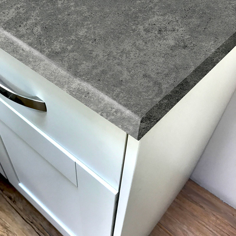 Pro-Top Concrete Grey Rough Stone Laminate Breakfast Bars