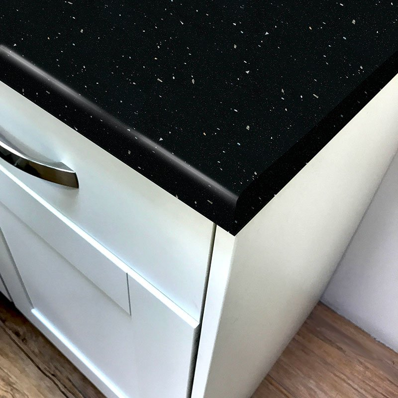 Black Quartz Gloss Laminate Worktop - Pro-Top… Product Image