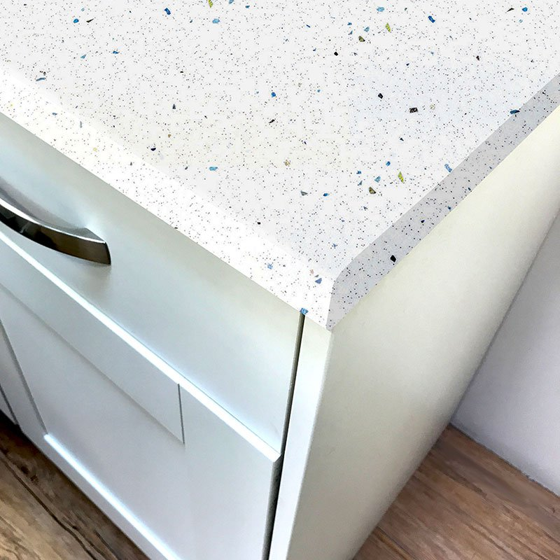 White Sparkle Gloss Laminate Worktop Pro Top 3050mm X