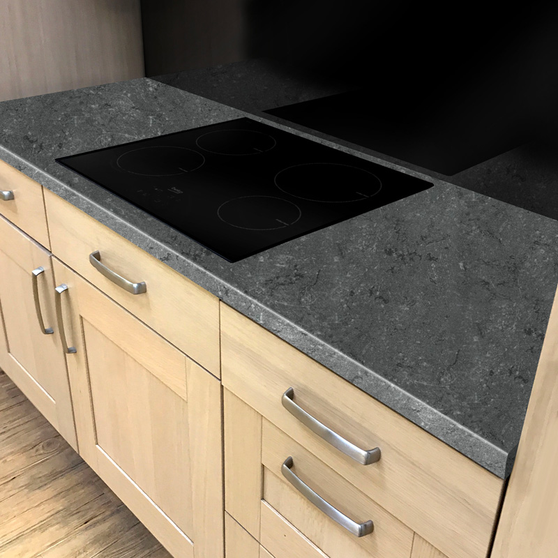 Duropal Black Limestone 2050mm X 600mm X 40mm Worktop In