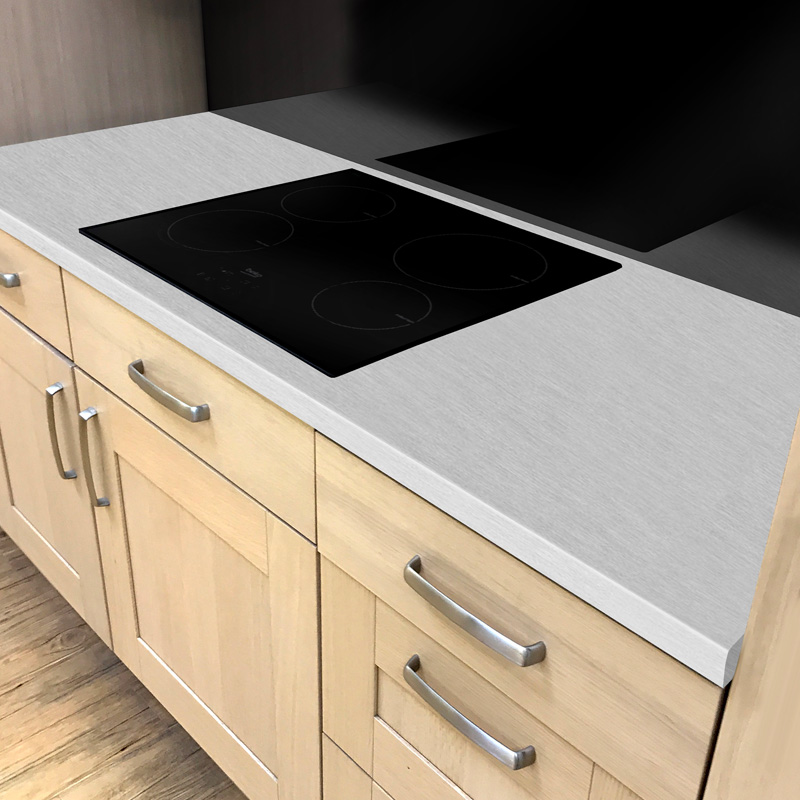 Duropal Brushed Aluminium 600mm Worktop