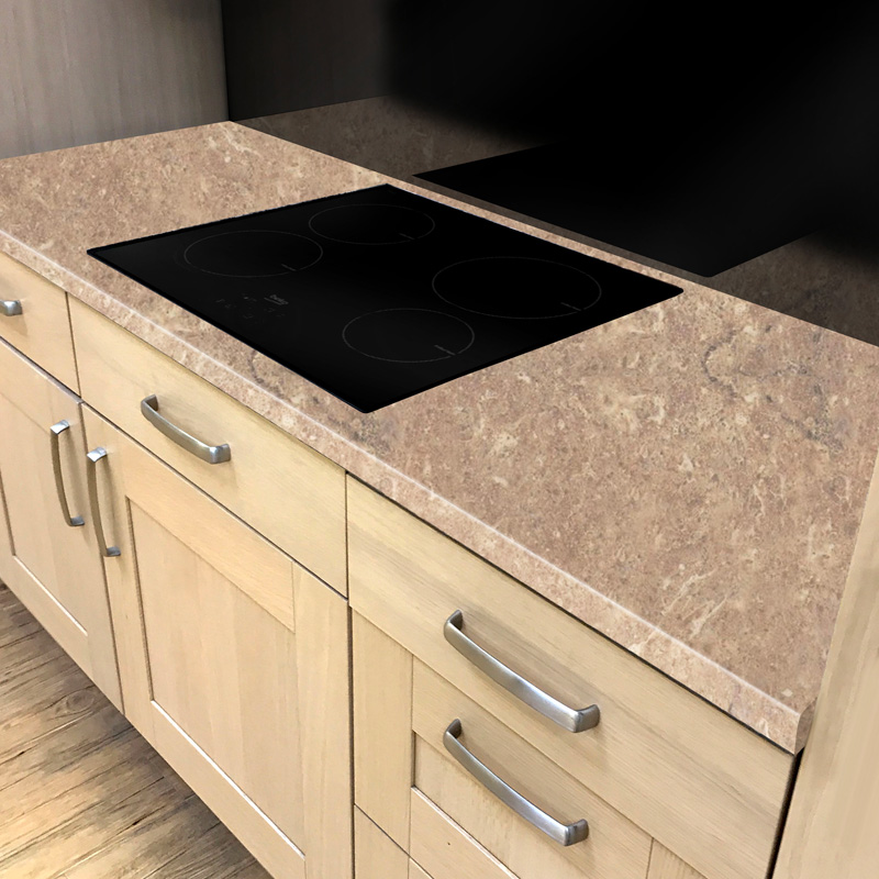 Maple Kitchen Worktops: Duropal Jura Marble 4100mm X 600mm X 40mm Worktop In Top Face Finish