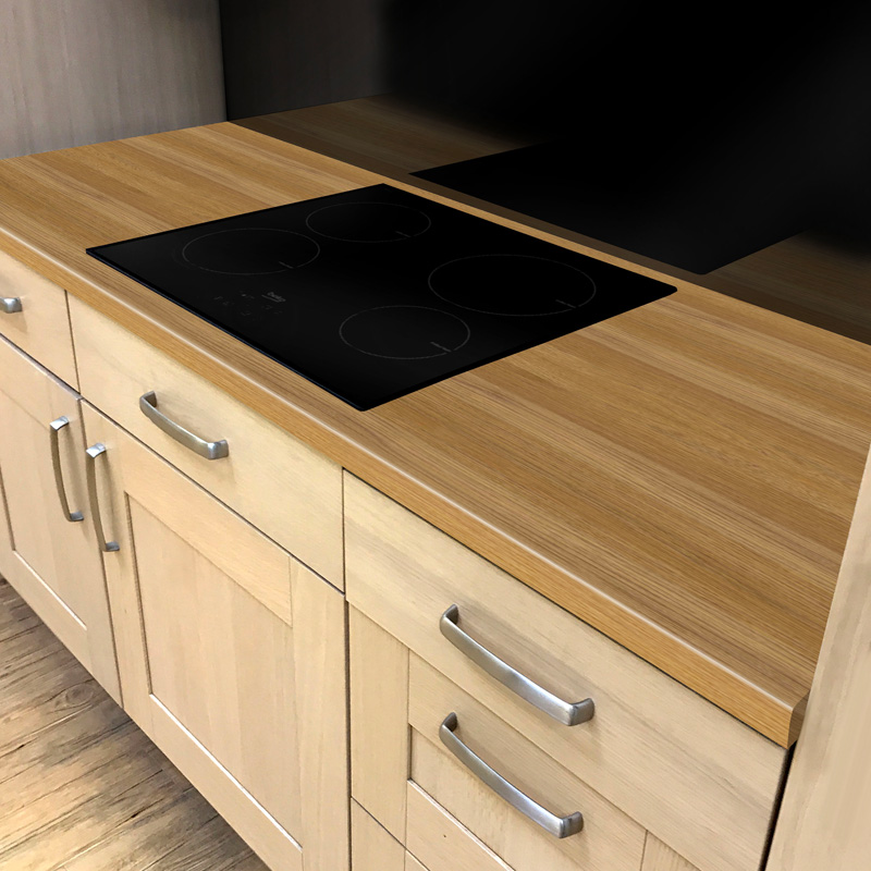 Duropal Natural Oak Block 900mm Breakfast Bar
