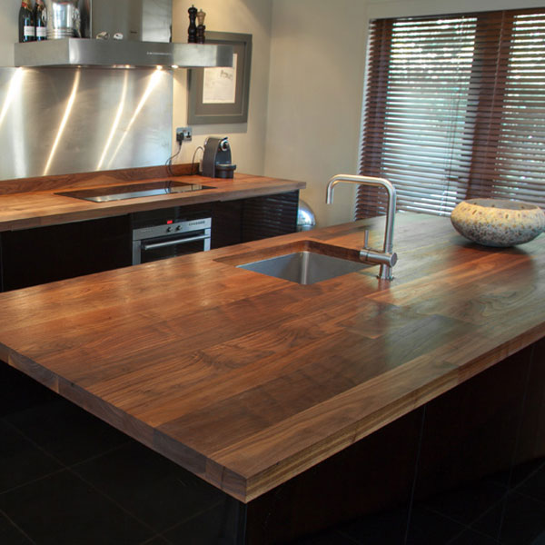 Solid Wood Euro Walnut 40mm Stave Worktops