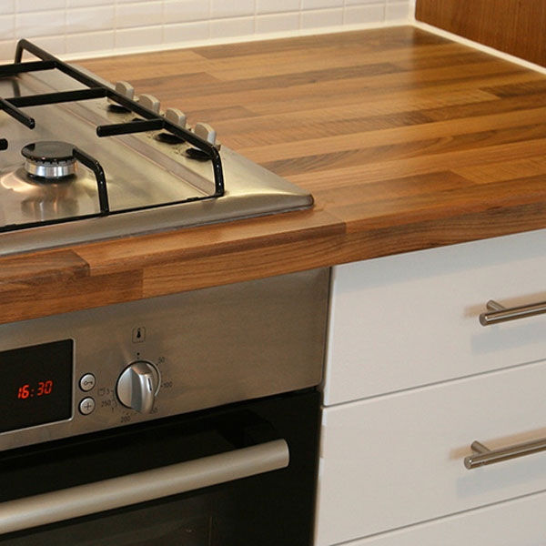 Solid Wood Iroko 40mm Stave Worktops