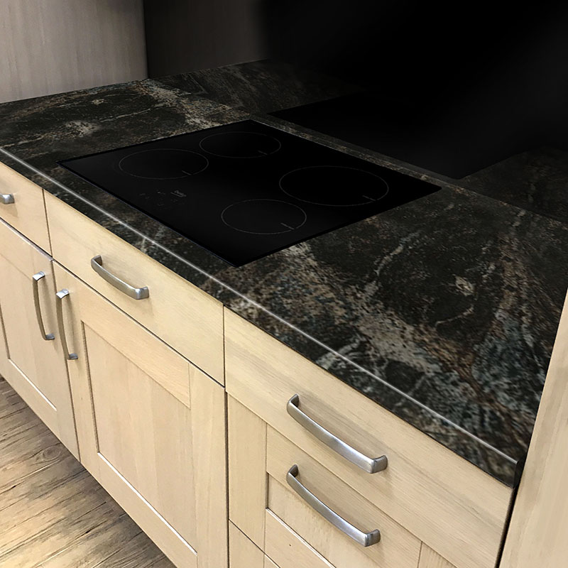 Axiom Black Storm Gloss 600mm Worktop