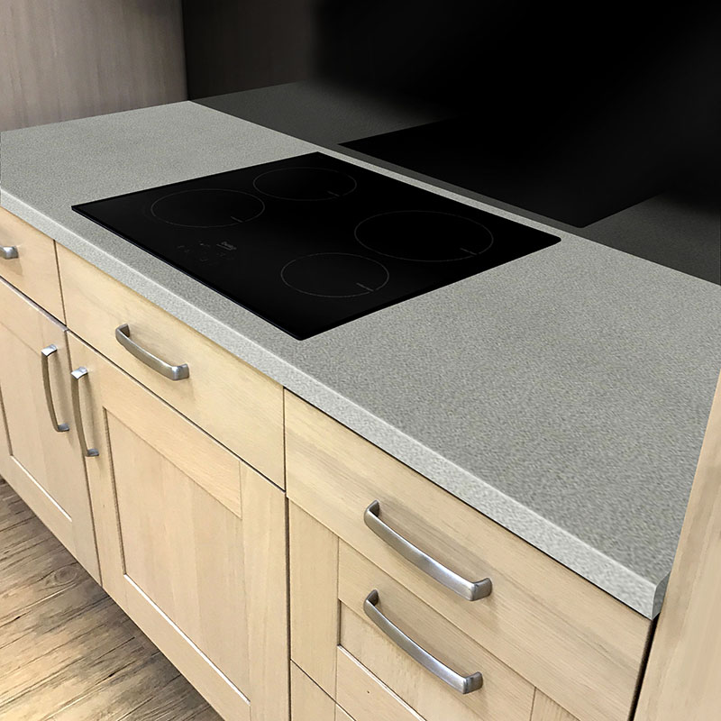 Axiom Charcoal Splatter Crystal 600mm Worktop