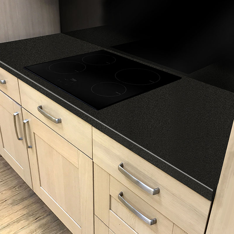 Axiom Paloma Black Gloss 3600mm X 600mm X 40mm Worktop In