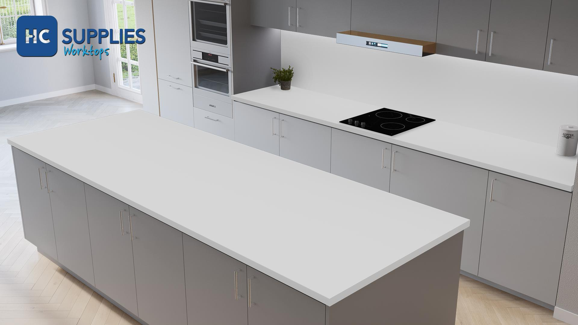 Kronodesign Slimline Snow White Super Matt Laminated Worktop