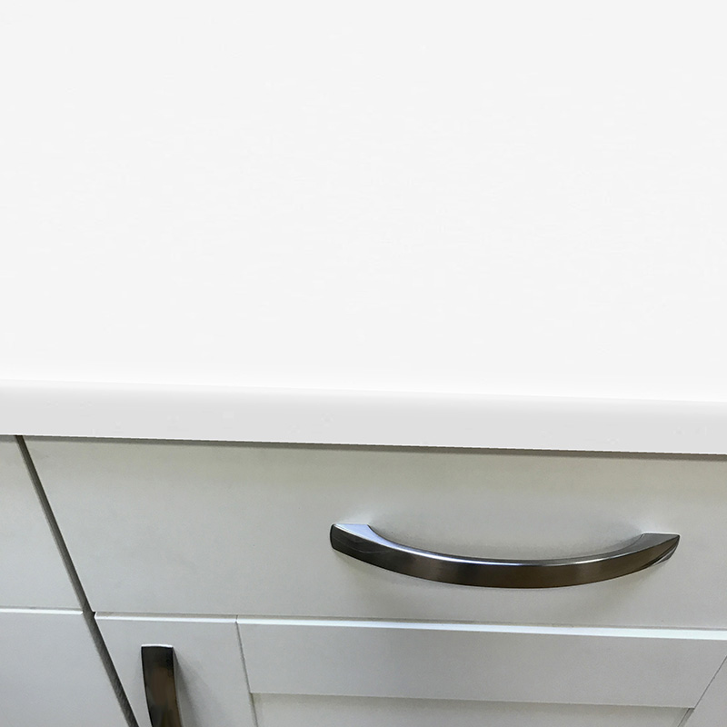 Axiom Crisp White Gloss 665mm Breakfast Bar