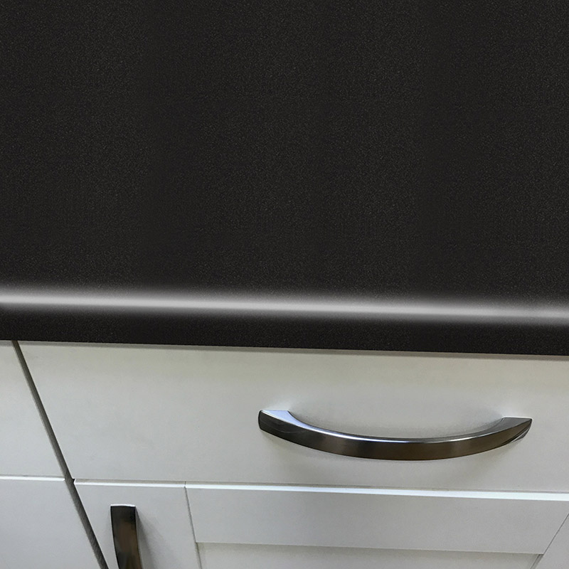 Axiom Paloma Black Matt 665mm Breakfast Bar