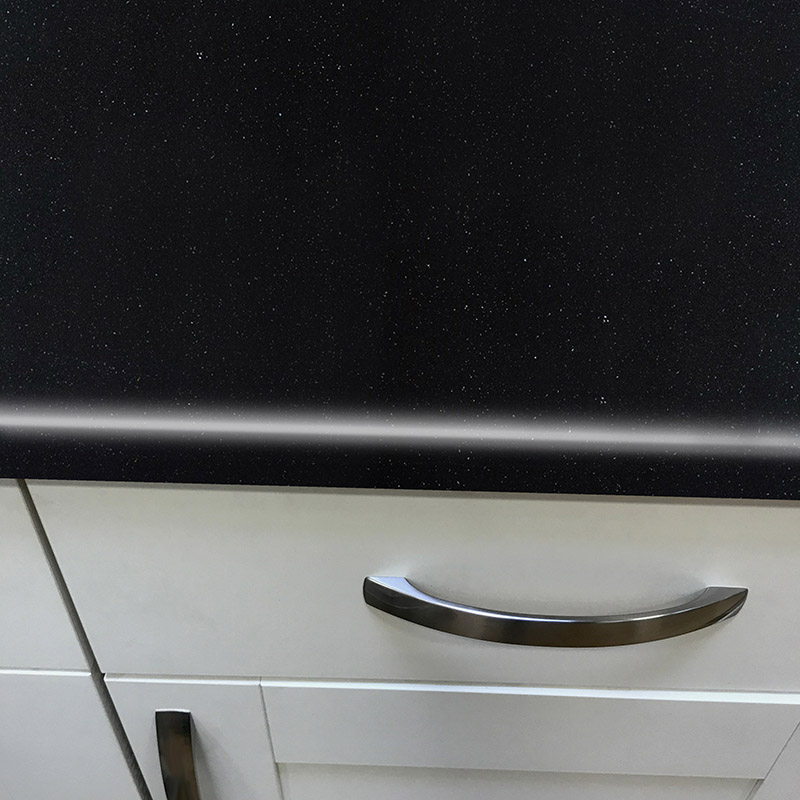 Axiom Platinum Black 665mm Breakfast Bar