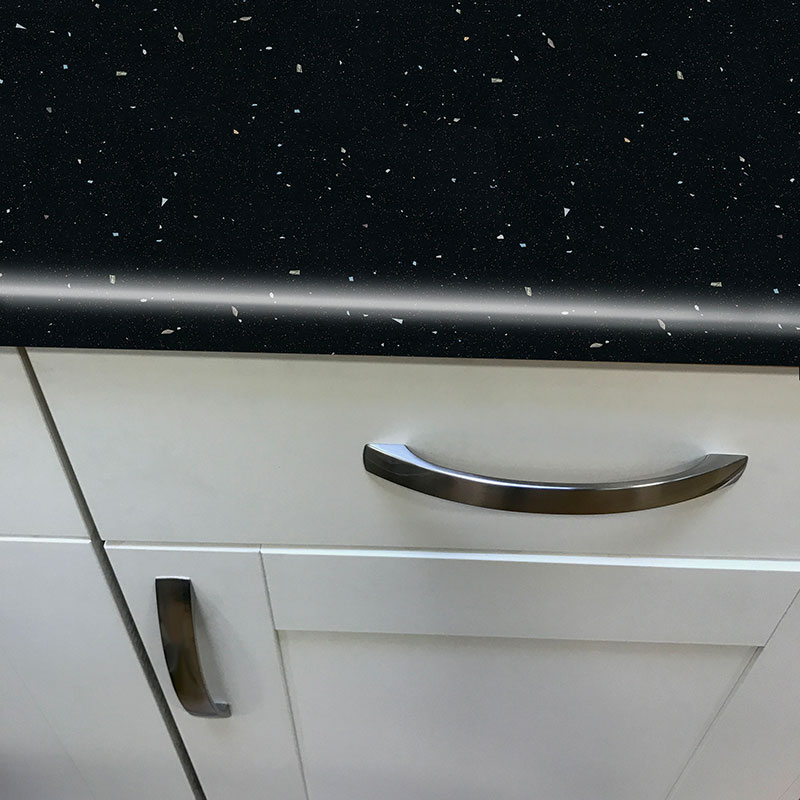 Black Quartz Gloss Laminate Worktop - Pro-Top - 600mm