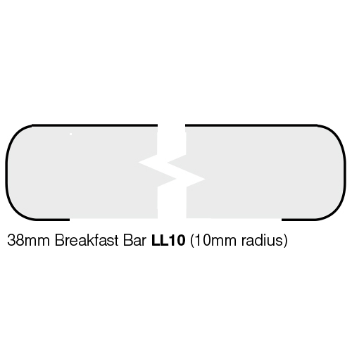 White Quartz Gloss Laminate Breakfast Bar - Pro-Top - 900mm
