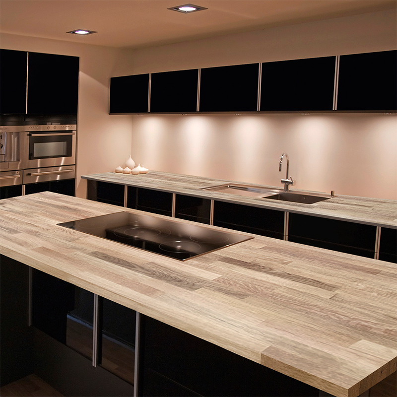 Solid Wood Oak Worktops In Solid Wood Finish Size 3000mm