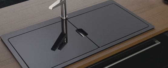 Black Glass Kitchen Sinks