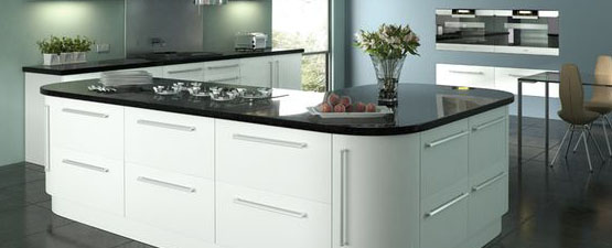 Black Gloss Kitchen Worktops
