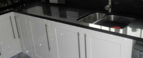 Black Sparkle Worktops