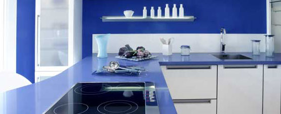 Blue Kitchen Worktops