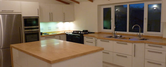 Brown Kitchen Worktops