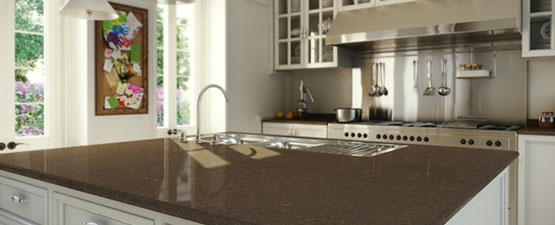 Brown Quartz Worktops