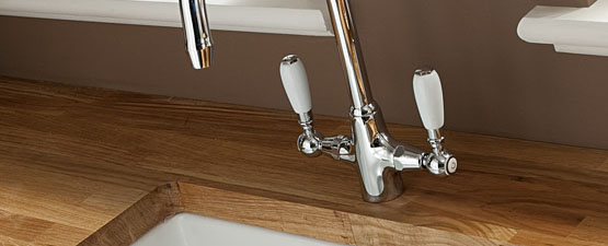Brushed Stainless Steel Kitchen Taps