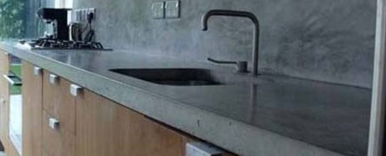 Concrete Polished Kitchen Worktops