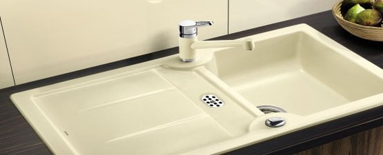 Cream Ceramic Kitchen Sinks