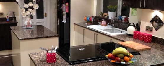 Ebony Granite Gloss Worktops