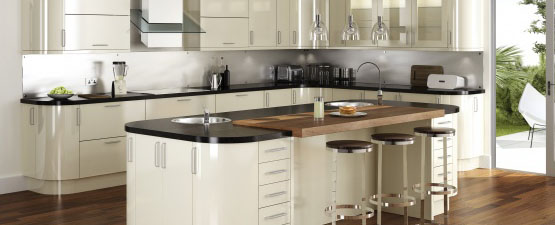 High Gloss Kitchen Worktops