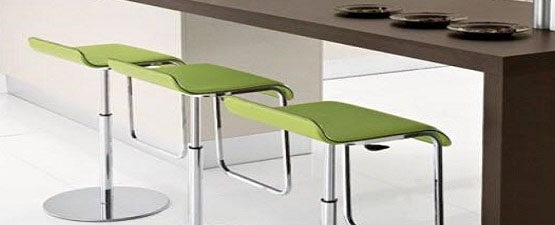 green breakfast bar stools