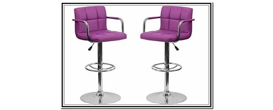 purple breakfast bar stools