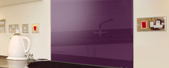 Purple Splashbacks