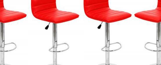 red breakfast bar stools