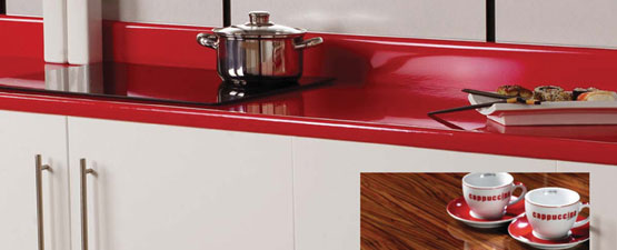 Red Kitchen Worktops
