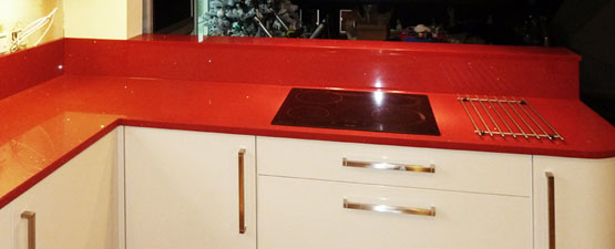 Red Quartz Worktops