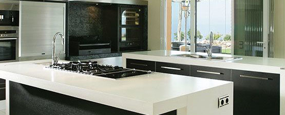 White laminate Kitchen Worktops