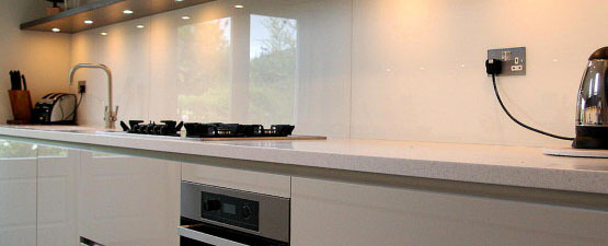 White Glass Splashbacks