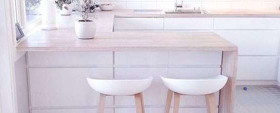 White Wooden Bar Stools